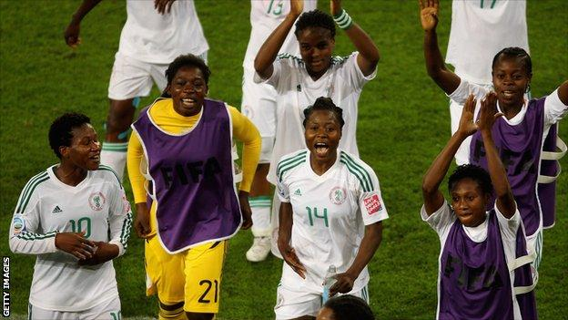 Nigeria's women's team in the 2011 World Cup in Germany