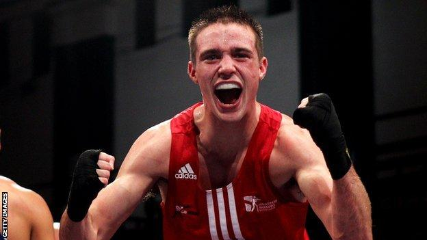 Lightweight boxer Josh Taylor