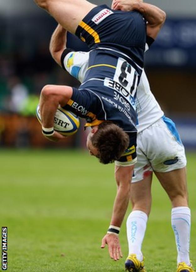 The tackle which saw Camacho given a yellow card
