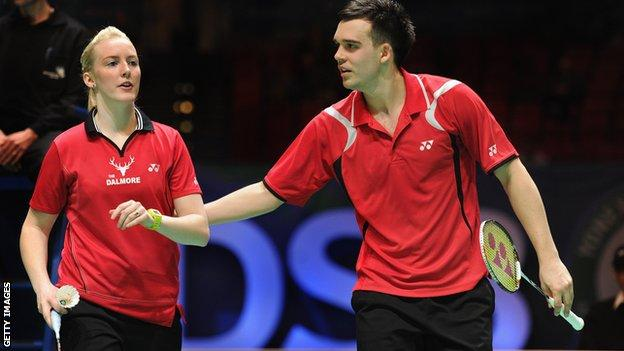 British mixed doubles pair Chris Adcock and Imogen Bankier