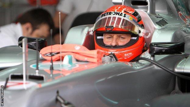 Mercedes's Michael Schumacher
