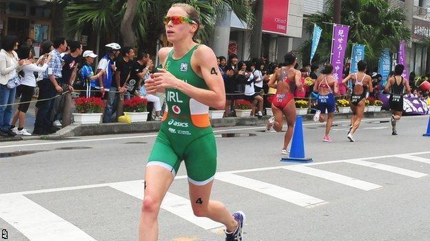Aileen Morrison running in Ishigaki on Sunday