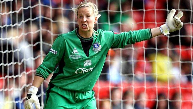 Everton keeper Rachel Brown