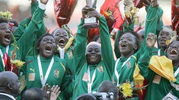 Cameroon women's team winning All Africa Games gold