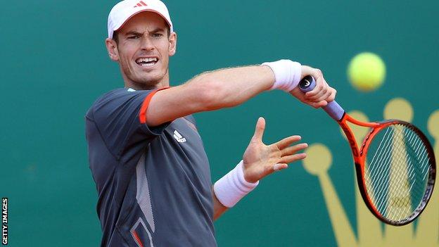 Andy Murray lost to Tomas Berdych in the Monte Carlo Masters last week