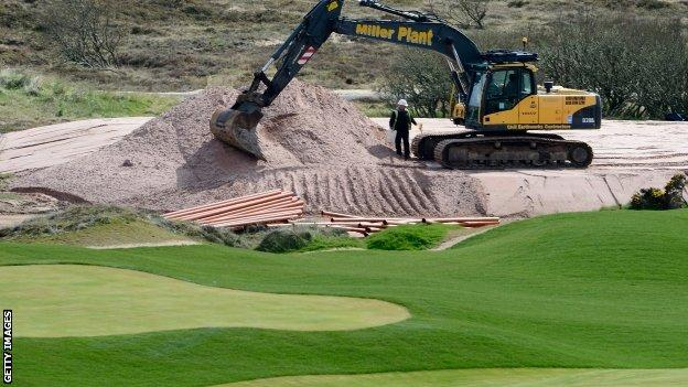 Work continues on Donald Trump's course near Aberdeen