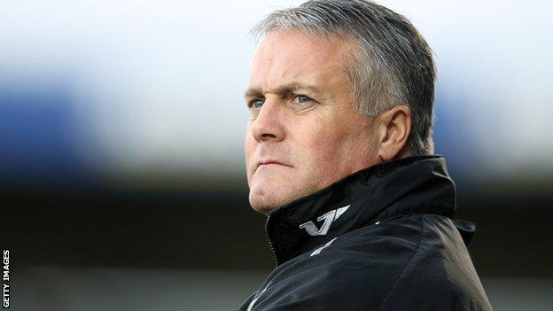 Micky Adams, manager of Port Vale