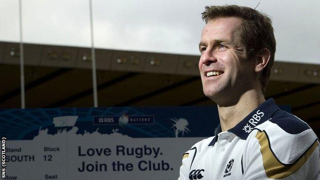 Scottish rugby star Chris Paterson