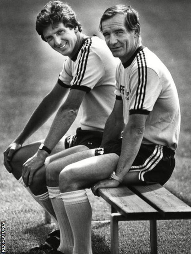 Roy Hodgson and Tord Grip at Malmo in 1985