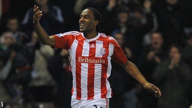 Stoke striker Cameron Jerome