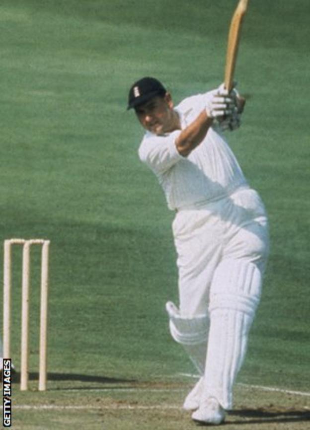 Colin Cowdrey batting for England