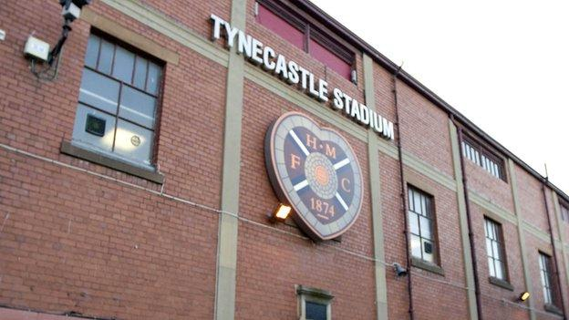 Tynecastle Stadium: home of Heart of Midlothian