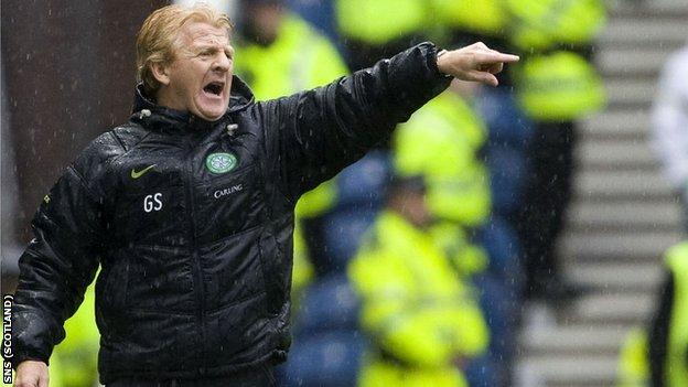 Strachan won six major honours as Celtic manager