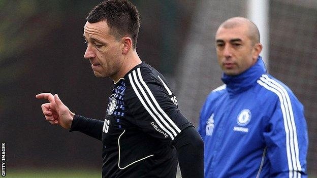 Chelsea's John Terry and Roberto di Matteo