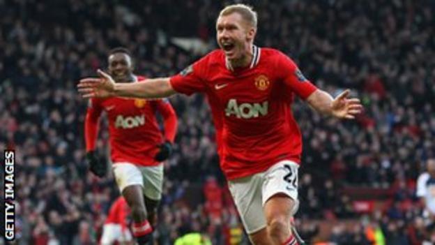 Manchester United's Paul Scholes