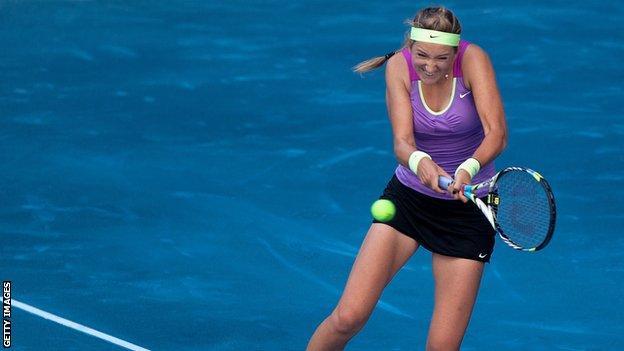 Victoria Azarenka beats Svetlana Kuznetsova at the Madrid Open