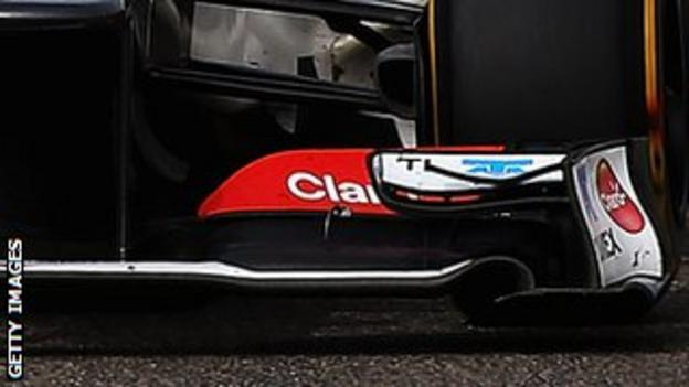 Sauber front wing