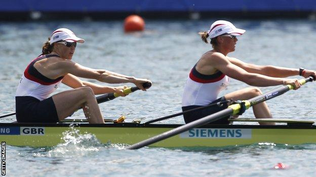 Helen Glover and Heather Stanning at Belgrade