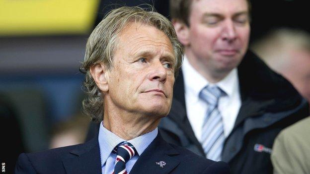 Former Rangers chairman Alastair Johnston
