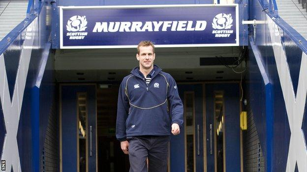 Paterson is pleased to be among the backroom staff at Murrayfield