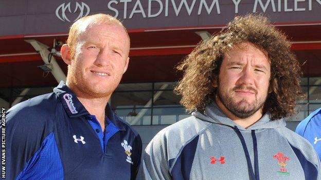 Martyn Williams and Adam Jones