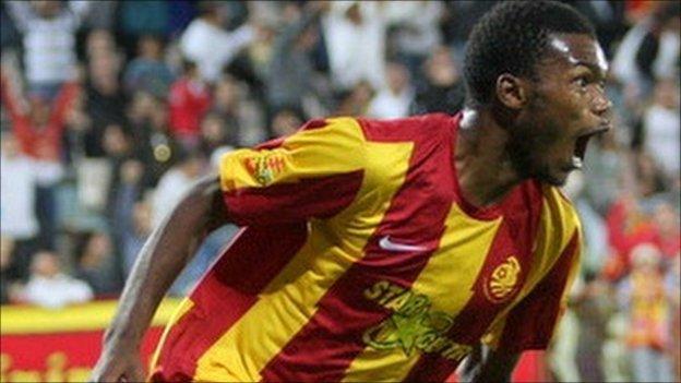 Zambian striker Rodgers Kola