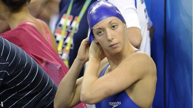 British swimmer Amy Smith