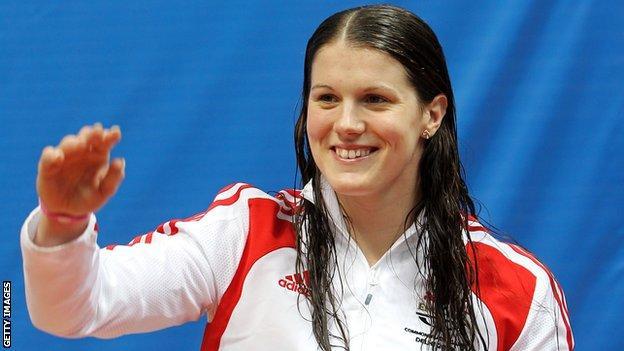 British swimmer Kate Haywood