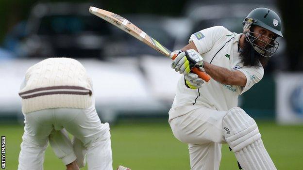 Moeen Ali batting against Surrey
