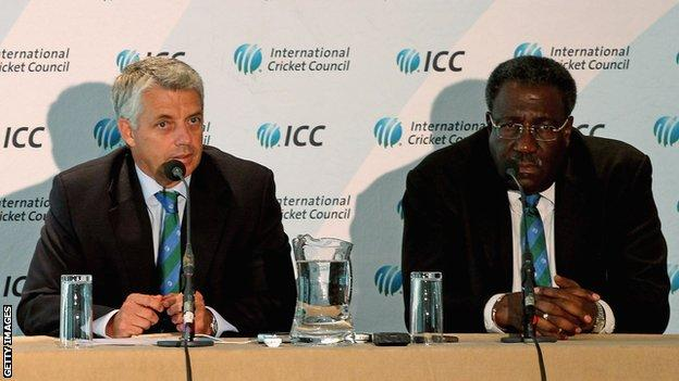 Dave Richardson and Clive Lloyd
