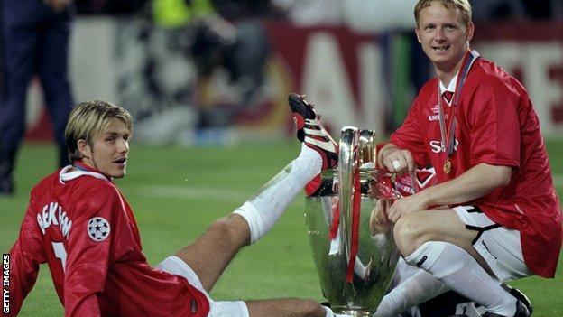 David May and David Beckham