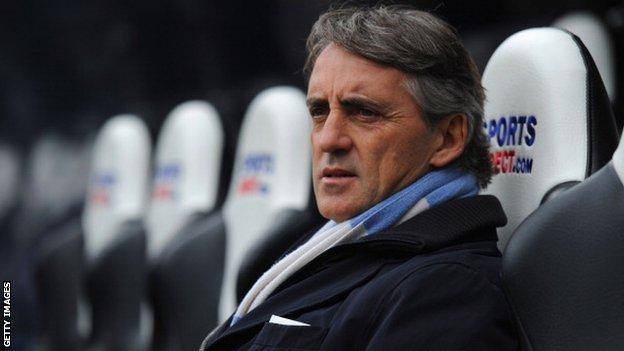 Roberto Mancini Manchester City manager