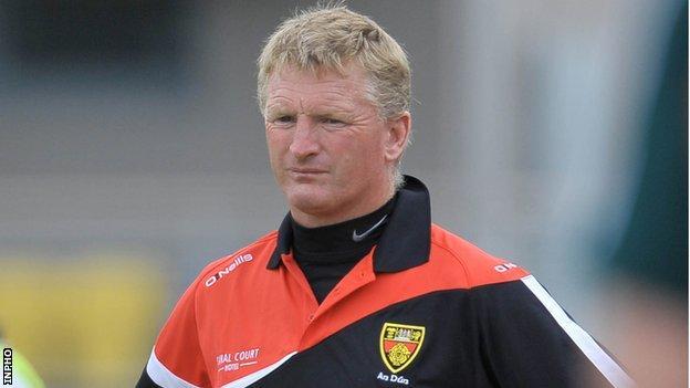 Down manager Gerard Monan