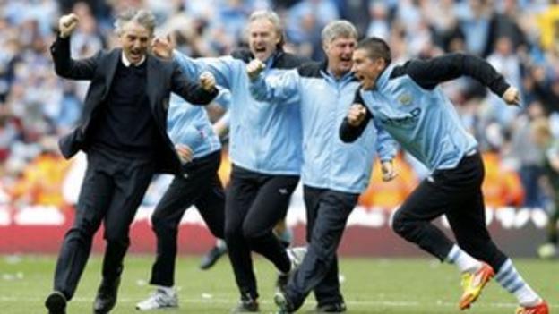 Manchester City's coaching staff