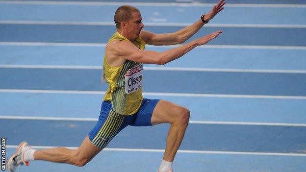 Swedish triple jumper Christian Olsson