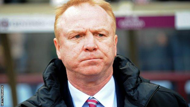 Alex McLeish sacked by Aston Villa after just one season in charge