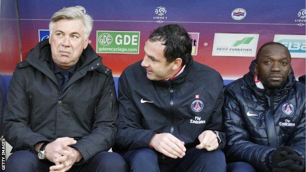 Carlo Ancelotti, Paul Clement and Claude Makelele