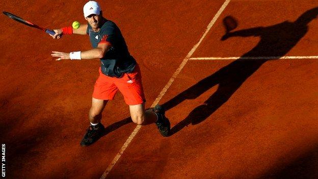 Andy Murray playing in Rome