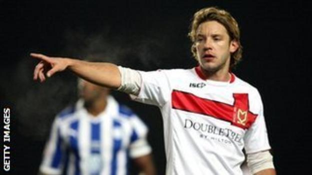MK Dons striker Alan Smith