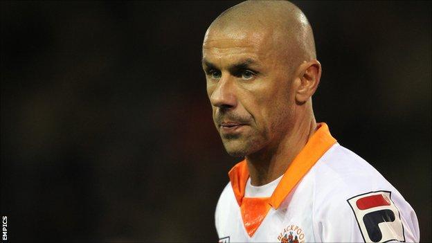 Blackpool striker Kevin Phillips