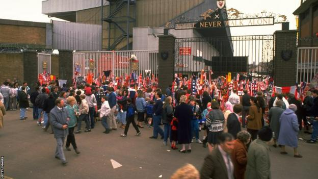 Outside Anfield