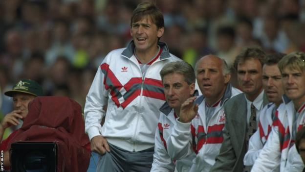 Kenny Dalglish on Liverpool bench