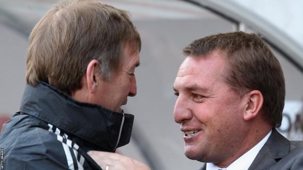 Dalglish and Brendan Rodgers (right)
