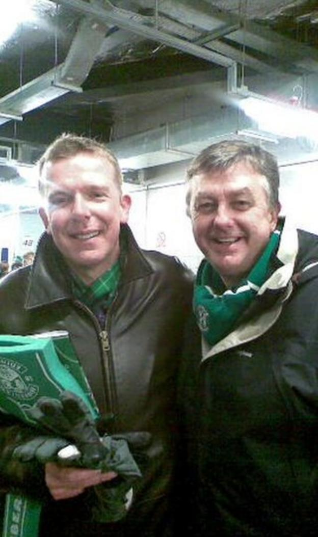 Charlie Reid from the Proclaimers and Bob share a love of Hibs