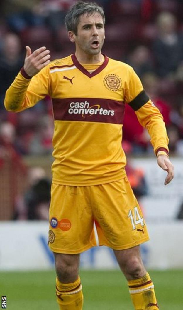 Midfielder Lasley has been with Motherwell since leaving Plymouth in 2006