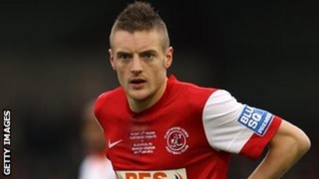 Fleetwood Town striker Jamie Vardy