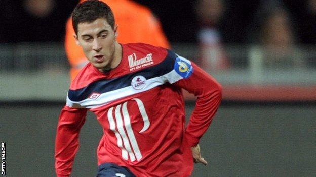 Lille midfielder Eden Hazard