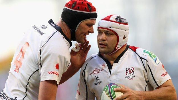 Johann Mulle and Rory Best