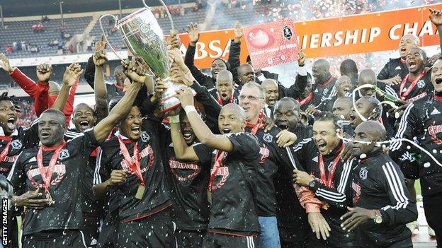 Orlando Pirates, winning in 2011, also champions in 2012