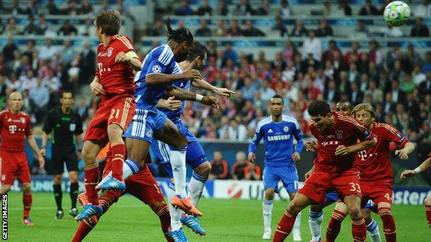 Didier Drogba equalises for Chelsea